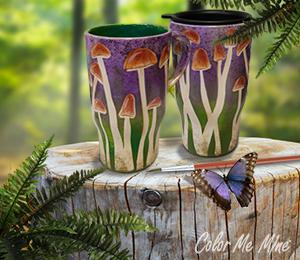 Lancaster Mushroom Mugs