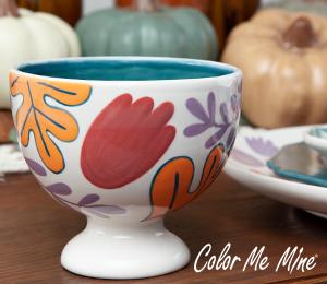 Lancaster Floral Pedestal Bowl