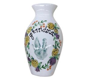Lancaster Floral Handprint Vase