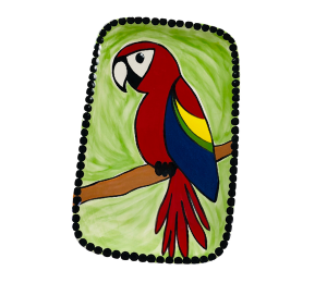 Lancaster Scarlet Macaw Plate